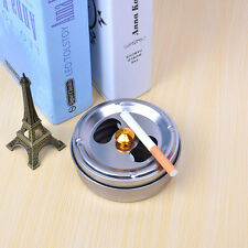 Smoking Accessories Stainless Steel Ashtray Lid Rotation Fully Enclosed Sale