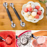 Stainless Steel Double-end Melon Scoop Fruit Ice Cream Dessert Spoons Chic