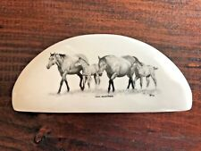 Horse Napkin Holder | White Ceramic | Original Horse Artwork