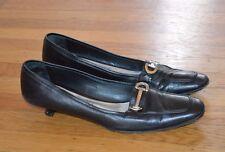 CALIGARIUS Women's Black Soft Leather Bob Ellis Shoes (Size 9.5)