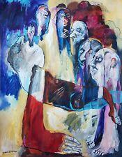Lysiane D. COSTE  peinture sur papier L' Oracle  painting paper 50/65cm 2020