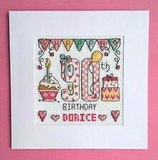 Happy 90th Birthday cross stitch card kit