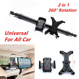 2in1 360 Degree  Car Back Seat Holder Tablet Cell Phone Stand ipad Mount Bracket