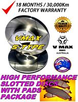 DIMPLD SLOTTD FRONT DISC BRAKE ROTORS for SSANGYONG ACTYON 2.0L 2006 on RDA7456D