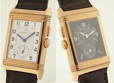 Jaeger LeCoultre Reverso Night & Day-ref 272.2.54 18ct rotgold-gmt & 24h
