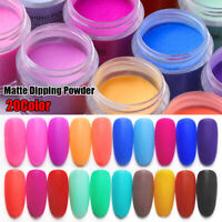 Matte Color Dipping Nail Powder Natural Dry Without Lamp Cure Nail Art Decor New