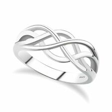 NEW Sterling Silver Everlasting Love Knot Ring in Sizes G-Z 20 Sizes Available