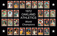 1972 OAKLAND ATHLETICS Baseball Card Complete Set POSTER Wall Art Man Cave Decor