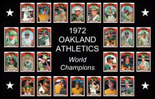 1972 Oakland Athletics Team Baseball Card Poster Print Decor Fan Xmas Gift Art
