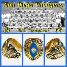 San Diego Chargers 1963 Championship Ring Size 11