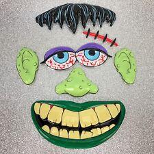 "Vtg NOS Cake Topper Frankenstein Decoration Pop Tops HALLOWEEN NEW 9 x 8"" Party"