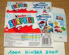 KINDER 3PACK TRIPACK FT SCHLUMPF SCHTROUMPF SMURF 2 - 2013 BE BENELUX