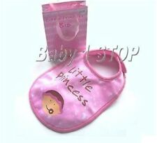 New Little Princess Bib and Gift Bag in Pink IDEAL GIFT