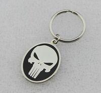 THE PUNISHER SKULL Badge Keychain