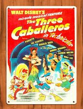 "Tin Sign ""Three Caballeros Poster Red"" Disney Cartoon Movie Art Poster"