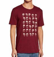 John Varvatos Star USA Men/'s Rows of Skulls Fashion Scarf Merino Wool Red