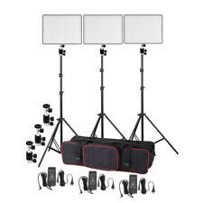 3xYongnuo YN600 Air CRI95 Bi-color Ultra-thin Led Video Light Stand Lighting Kit