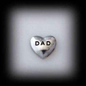 """Dad"" Floating Charm"