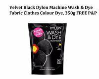 Dylon Wash and Dye Velvet Black 350g Gives Dark Colours Renewed intensity