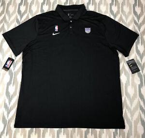 Nike NBA Sacramento Kings Men Short Sleeve Shirt Polo Black Sz XL/2XL AV1791-010
