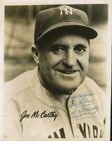 Joe Mccarthy Jsa Coa Hand Signed 8x10 Photo Authentic Autograph