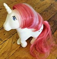 Vintage 1983 My Little Pony G1 MOONDANCER White Unicorn Moon Stars Pink Hair