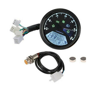 LCD Digital Speedometer 8-18V Gear Tachometer Odometer Kits Fit For Motorcycle