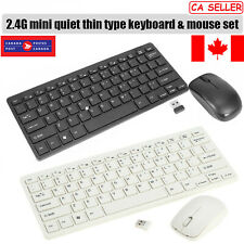 Wireless Keyboard & Mouse Combo 2.4Ghz Optical Mouse Combo For PC Laptop Mac CA