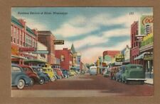 Biloxi,MS Mississippi, Business Section street, used 1944 soldiers free mail