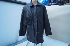 BIBA + pariscop Damen Lammnappa weiches Lamm Leder Jacke Mantel Gr.40 schwarz