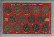 More details for 1911-1924 king george v halfpennies halfpenny coin collector collecting gift set