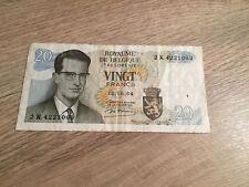 Banknote Belgium 2 Billets Belgique 20 Francs Frank 1964 Roi Baudouin Belgïe