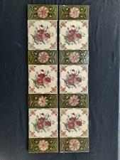 More details for set of antique fireplace tiles.  stock item tiles cc001