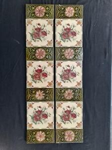 Set of Antique Fireplace Tiles.  stock item tiles CC001