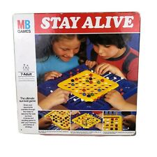 1975 Vintage Stay Alive Board game Mb Games In Box 1970's Missing 4 Marbles Used