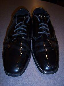 Mens Tuxedo Dress shoes Black faux patent leather oxford Square toe fashion BRC