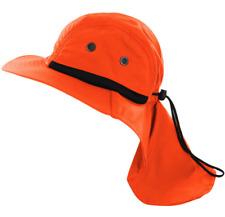 Boonie Snap Hat Brim Ear Neck Cover Sun Flap Cap Outdoor Hiking Garden Fishing