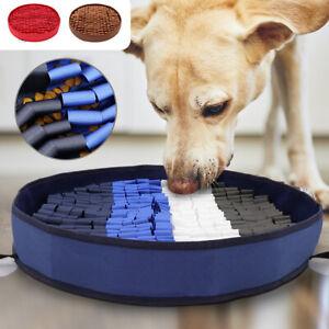 Pet Dog Snuffle Mat Feeding Treat Food Puzzle Nosework Play Training Washable