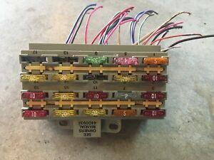 89 90 91 1990 DODGE SPIRIT ACCLAIM FUSE BOX UNDER DASH 3.0L