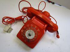 TELEPHONE ANCIEN  COULEUR ORANGE CADRAN