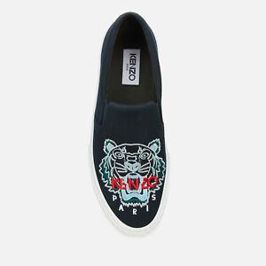 NWT KENZO Men's K-Skate Tiger Head Slip-On shoes - UK 8 - Navy Blue - RRP $360