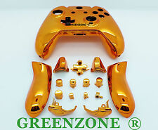 Orange Chrome Xbox One Replacement Custom Controller Shell with Buttons Mod Kit