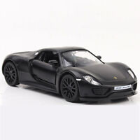 1/36 Porsche 918 Spyder Model Car Diecast Gift Toy Vehicle Kids Pull Back Black
