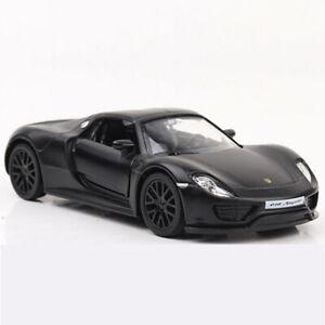 Porsche 918 Spyder Supercar 1:36 Model Car Diecast Gift Toy Vehicle Kids Black
