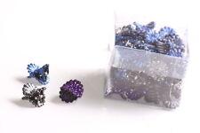 24 Pack Glamorous Blue,Black & Purple Glitter/Venus Fly Trap Hair Clips (Zx292)