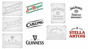 MAN CAVE BAR STENCIL SET ALL 5 DESIGNS IN A4 SIZE RE-USEABLE PUB WALL DECOR