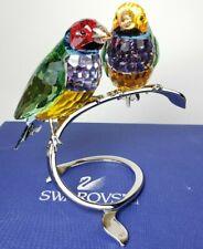 SWAROVSKI Crystal #1141675 Gouldian Finches Peridot Love Birds Retired in Box