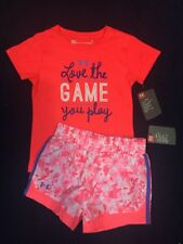 Under Armour Toddler Girl 2pc Set T- Shirt & Running  Shorts W/Panties Sz 3T
