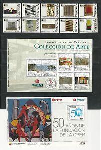 Venezuela: Lot of 4 complete sets + 4 S.S Arts, paint, stained glass...VZ0090