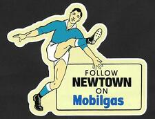 """FOLLOW NEWTOWN ON MOBILGAS"" Vinyl Sticker Decal NRL JETS Petrol BLUEBAGS"